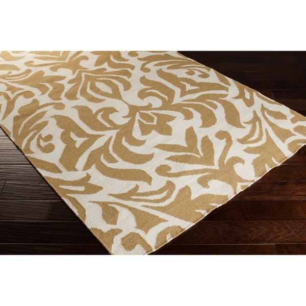 Hand-woven 'Market Place' Contemporary Damask Area Rug - 5' x 8'