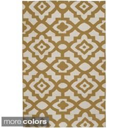 Hand-woven 'Market Place' Contemporary Lattice Print Rug (5' x 8')