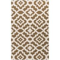 Hand-woven 'Market Place' Contemporary Lattice Print Area Rug - 5' x 8'