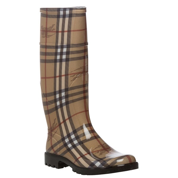 6adf6a199e643 Shop Burberry Women's Haymarket Check Rainboots - Free Shipping Today -  Overstock - 8082681