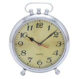 Vintage Classic 13-inch Aluminum Metal Table Clock