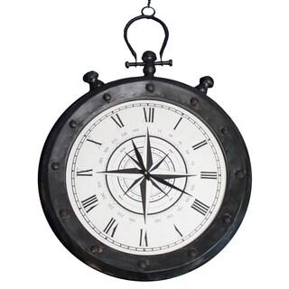 Casa Cortes Weathered Compass Hanging Wall Clock