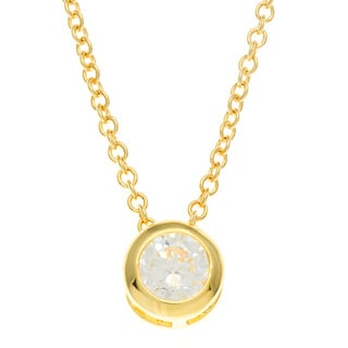 Kate Bissett 14k Gold Bonded CZ Pendant Necklace