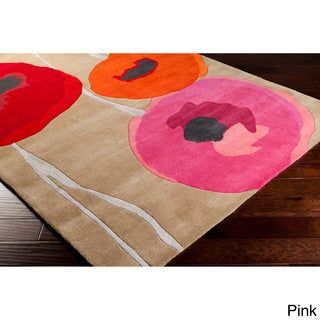 Hand-tufted Floral Area Rug
