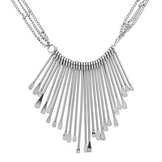 Kate Bissett Silvertone Graduated Medallion Statement Necklace