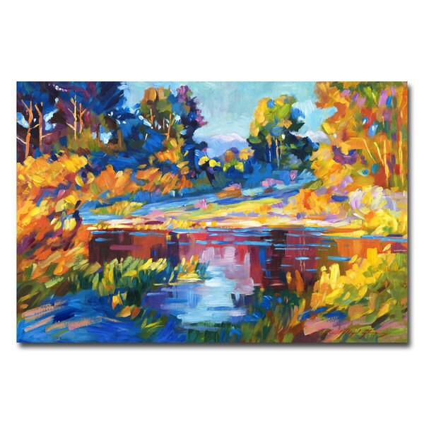 David Lloyd Glover 'Reflections on a Quiet Lake' Canvas Art