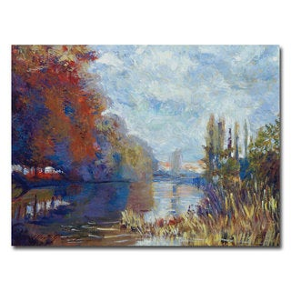 David Lloyd Glover 'Argenteuil on the Seine' Canvas Art