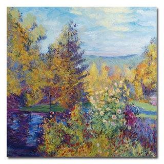 David Lloyd Glover 'Garden at Montgeron' Canvas Art