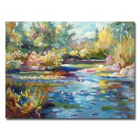 David Lloyd Glover 'Summer Pond' Canvas Art - Multi