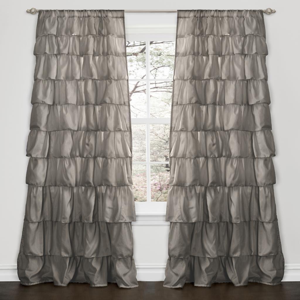 panel panels lace p bridal v curtains layered curtain ruffle ruffled