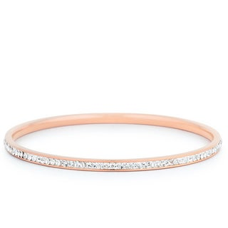 Kate Bissett Rose Goldtone 2.5-Inch Diameter Bangle Set