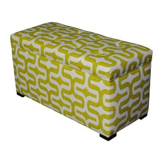 'Angela Embrace' Green Patterned Storage Trunk