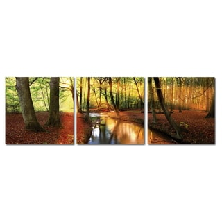 Baxton Studio Forest Oasis Mounted Photography Print Triptych