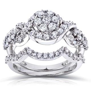 Annello by Kobelli 14k Gold 1ct TDW Diamond Braided Bridal Set (H-I, I1-I2)