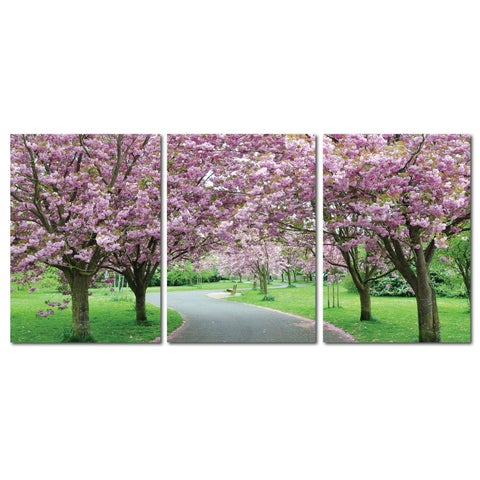 Baxton Studio Spring in Bloom Mounted Photography Print Triptych - White