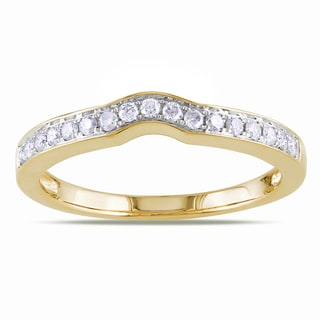 Miadora 14k Yellow Gold 1/4ct TDW Diamond Wedding Ring