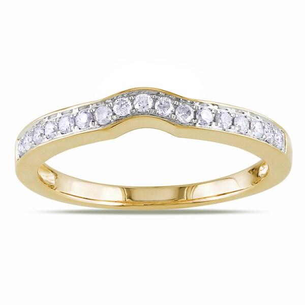 Miadora 14k Yellow Gold 1/4ct TDW Diamond Wedding Ring