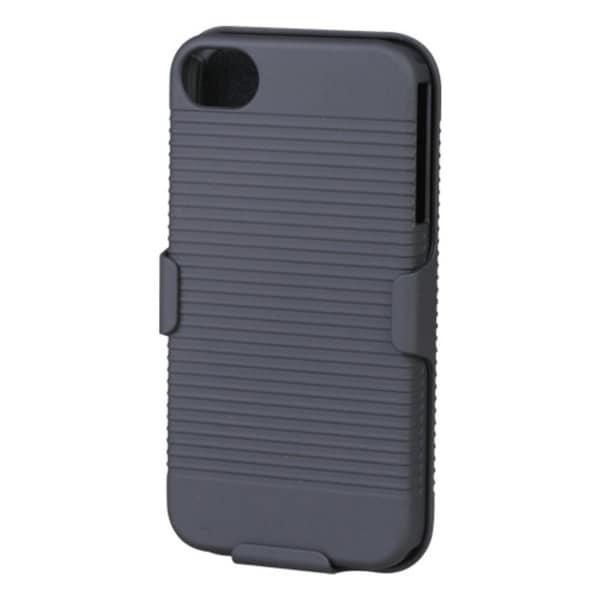 INSTEN Black Hybrid Holster for Apple iPhone 4S/ 4