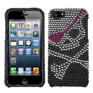 INSTEN Skull Diamante Protector Phone Case for Apple iPhone 5/ 5S/ SE