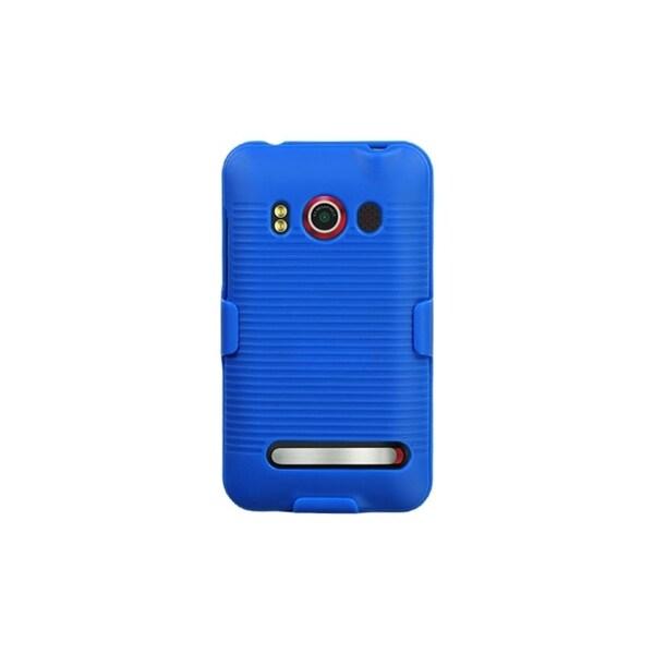INSTEN Blue Hybrid Holster for HTC EVO 4G