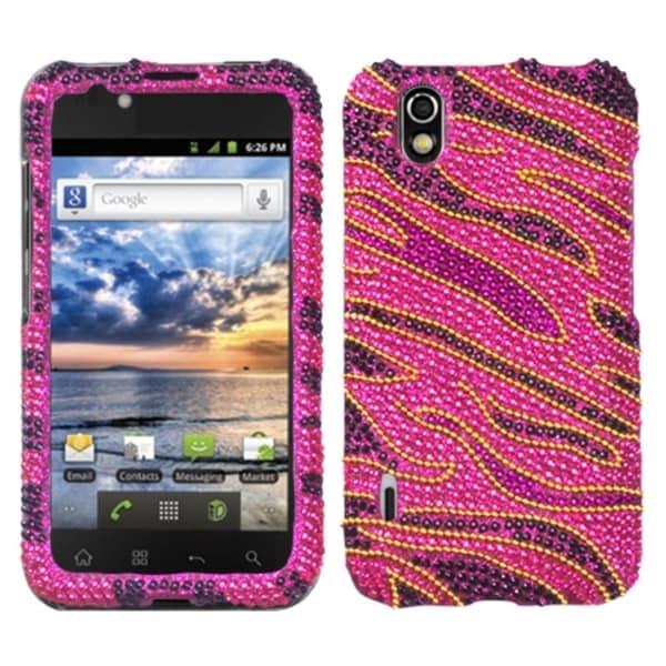 INSTEN Rocker Diamante Phone Case Cover for LG LS855 Marquee