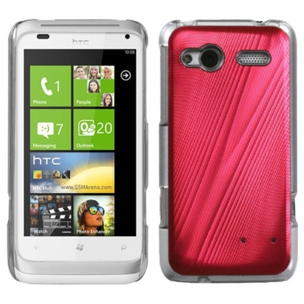 INSTEN Red Cosmo Back Phone Case Cover for HTC Radar 4G