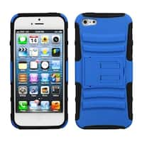 INSTEN Blue/ Black Advanced Armor Stand Phone Case for Apple iPhone 5/ 5S/ SE