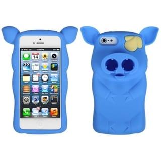 INSTEN Baby Blue Pig Nose Skin Phone Case for Apple iPhone 5/ 5S/ SE