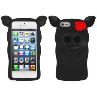 INSTEN Black Pig Nose Skin Phone Case for Apple iPhone 5/ 5S/ SE