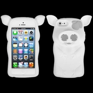 INSTEN White Pig Nose Skin Phone Case for Apple iPhone 5/ 5S/ SE