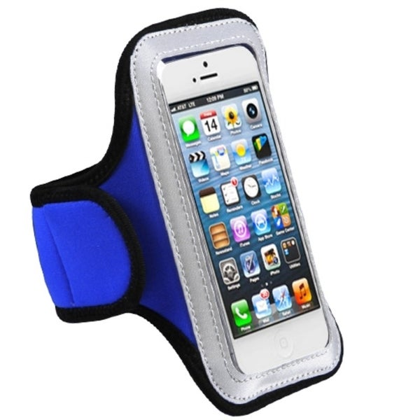 BasAcc Dark Blue Sport Armband Vertical Case for Apple® iPhone 5