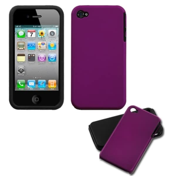 INSTEN Purple Fusion Phone Case Cover for Apple iPhone 4S/ 4