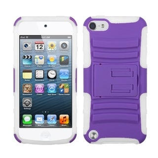 Link to Insten Purple/ White Advanced Armor Hard PC/ Silicone Hybrid Case Cover with Stand For Apple iPod Touch 5th/ 6th Gen Similar Items in MP3 & iPod Accessories
