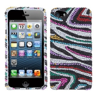 INSTEN Clear/ Red/ Blue Stripes Gummy Phone Case Cover for Samsung Galaxy Note II