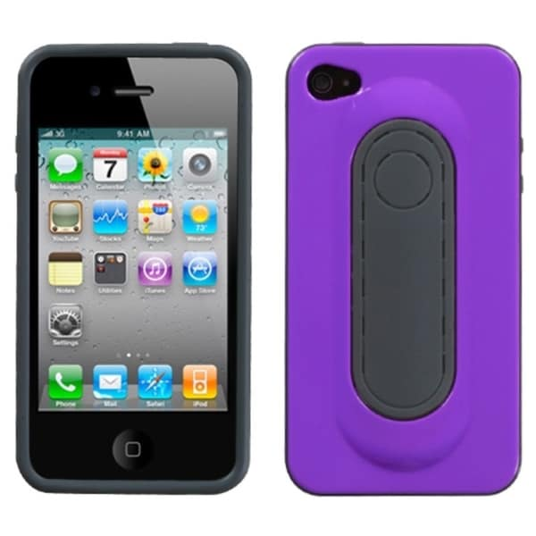 INSTEN Purple Snap Tail Stand Phone Case Cover for Apple iPhone 4S/ 4