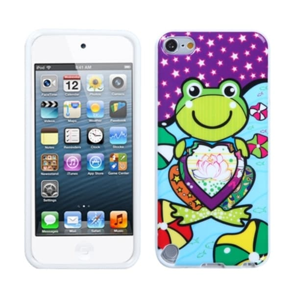 Insten Frog TPU Rubber Candy Skin Glossy Case Cover For Apple iPod Touch 5th/ 6th Gen. Opens flyout.