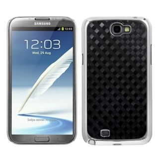 INSTEN Plaid Silver Plating Alloy Phone Case Cover for Samsung Galaxy Note II
