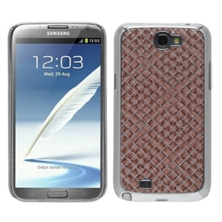 INSTEN Vermilion Silver Plating Alloy Phone Case Cover for Samsung Galaxy Note II