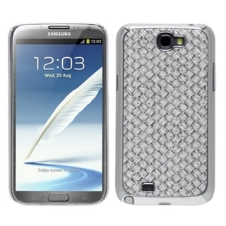 INSTEN Silver Grey Plating Alloy Phone Case Cover for Samsung Galaxy Note II