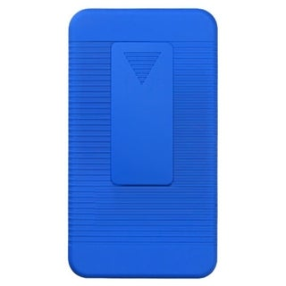 INSTEN Blue Rubberized Hybrid Holster for Samsung I777 Galaxy S II