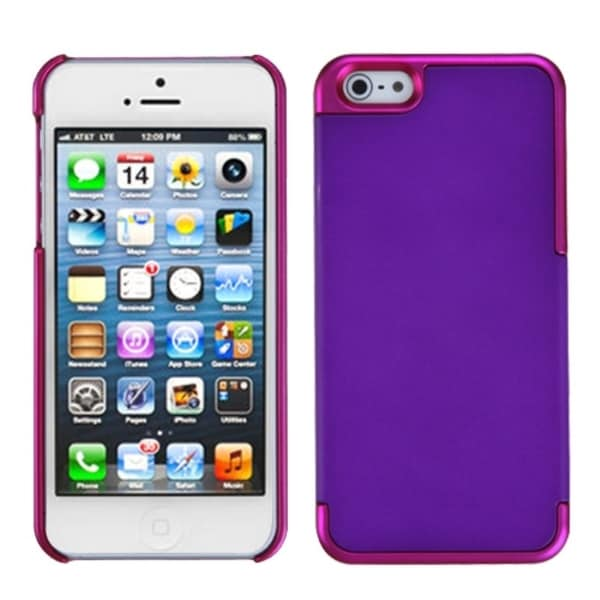 INSTEN Grape/ Solid Pink MyDual Protector Phone Case for Apple iPhone 5/ 5S/ SE