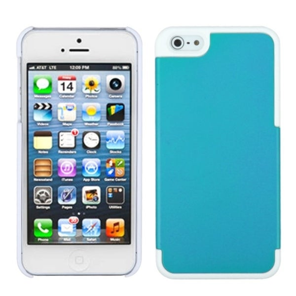 INSTEN Teal/ Ivory White MyDual Protector Phone Case Cover for Apple iPhone 5