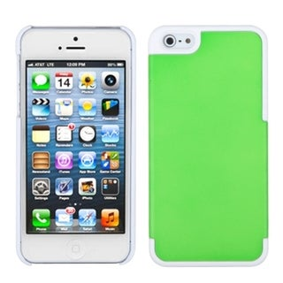 INSTEN Green/ Ivory White MyDual Protector Phone Case for Apple iPhone 5/ 5S/ SE
