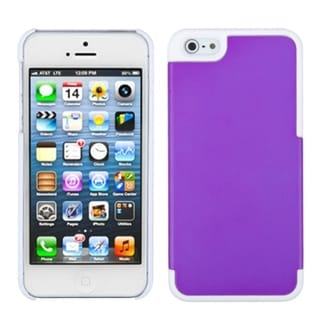 INSTEN Grape/ Ivory White MyDual Protector Phone Case for Apple iPhone 5/ 5S/ SE