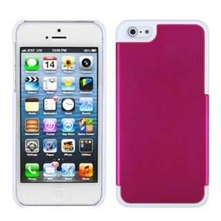 INSTEN Pink/ Ivory White MyDual Protector Phone Case for Apple iPhone 5/ 5S/ SE
