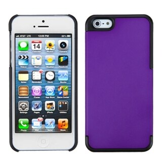 INSTEN Grape/ Black MyDual Protector Phone Case for Apple iPhone 5/ 5S/ SE