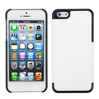 INSTEN Ivory White/ Black MyDual Protector Phone Case for Apple iPhone 5/ 5S/ SE