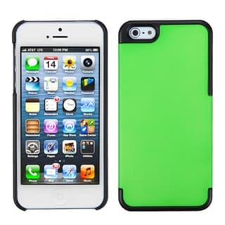 INSTEN Dark Green/ Black MyDual Protector Phone Case for Apple iPhone 5/ 5S/ 5C/ SE