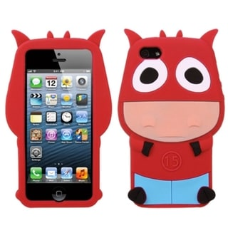 INSTEN Red Cow Pastel Skin Phone Case for Apple iPhone 5/ 5S/ SE