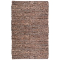 Hand-woven Matador Brown Leather Rug - 10' x 14'